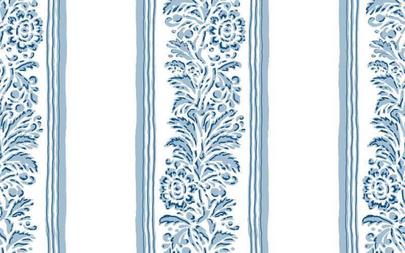 Positano Stripe Blue heaven wallpaper
